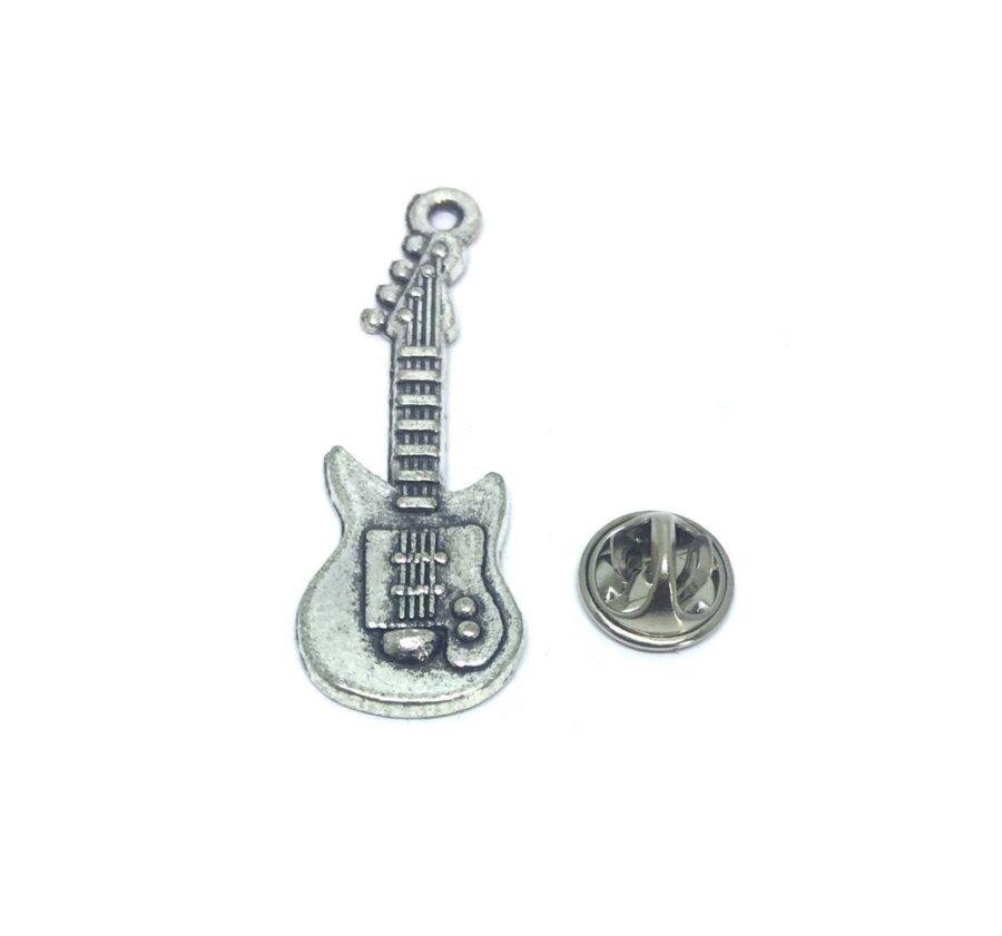 Antique Guitar Music Lapel Pin