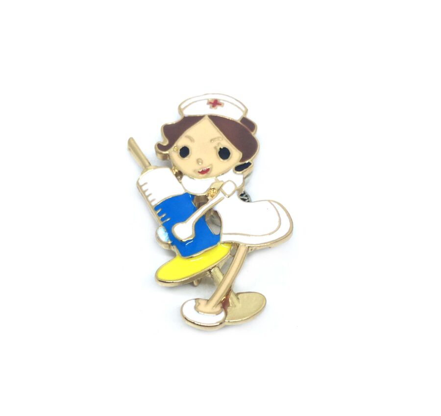 Injection Nurse Lapel Pin