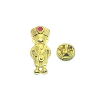 Gold plated Nurse Lapel Pin