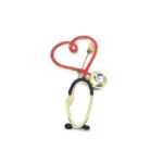 Stethoscope Nurse Lapel Pin