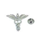 Crystal Medical Symbol Lapel Pin