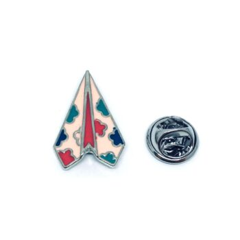 Silver plated Enamel Airplane Pin