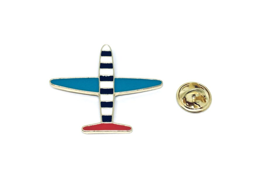 Gold plated Enamel Airplane Pin