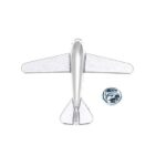 Silver plated Airplane Pin