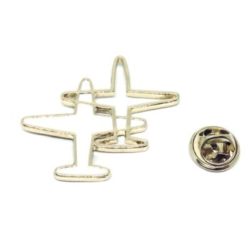 Gold plated Double Airplane Pin