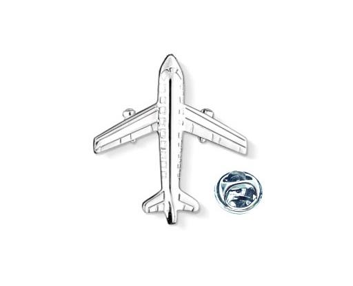 Silver tone Airplane Pin