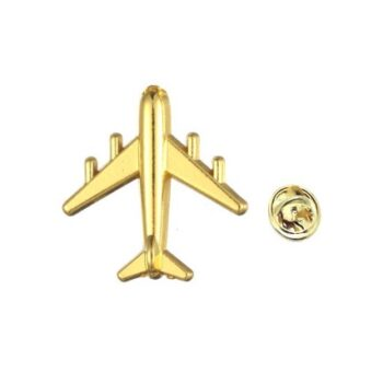 Gold plated Airplane Pin