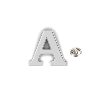 A Alphabet Lapel Pin