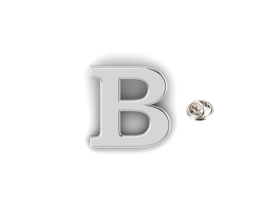 B Alphabet Lapel Pin