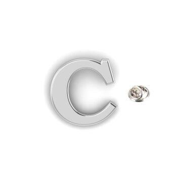 C Alphabet Lapel Pin