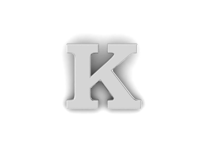 K Alphabet Lapel Pin