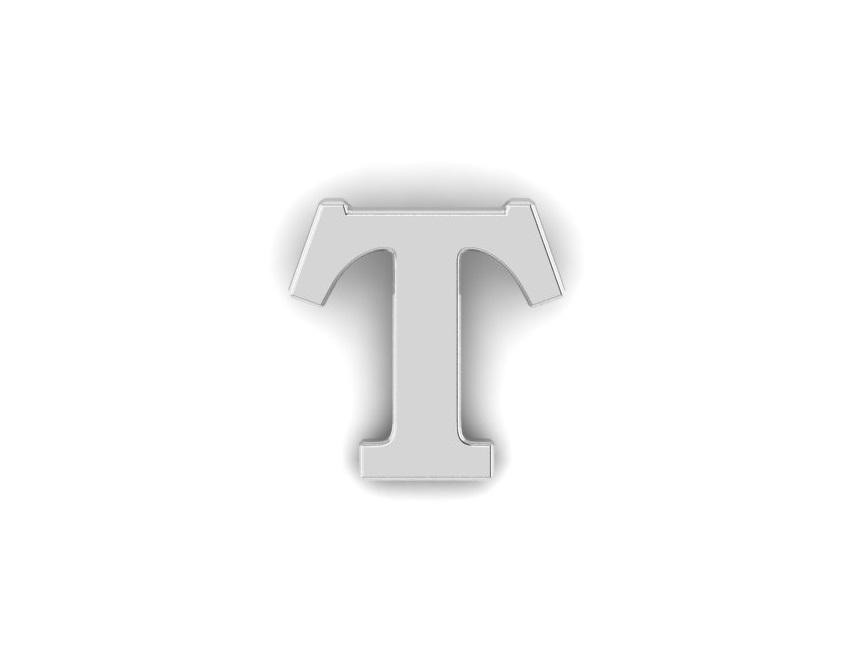 T Alphabet Lapel Pin