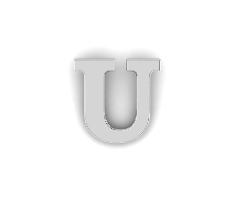 U Alphabet Lapel Pin