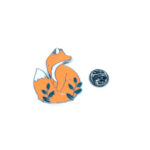 Silver plated Enamel Animal Pin