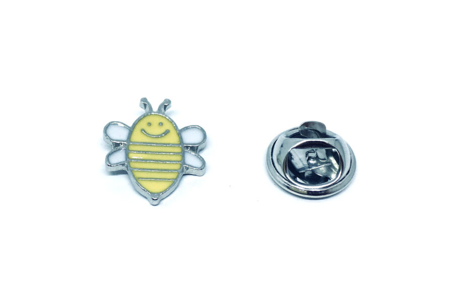 Silver plated Enamel Bee Pin