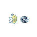 Silver tone Enamel Bee Pin