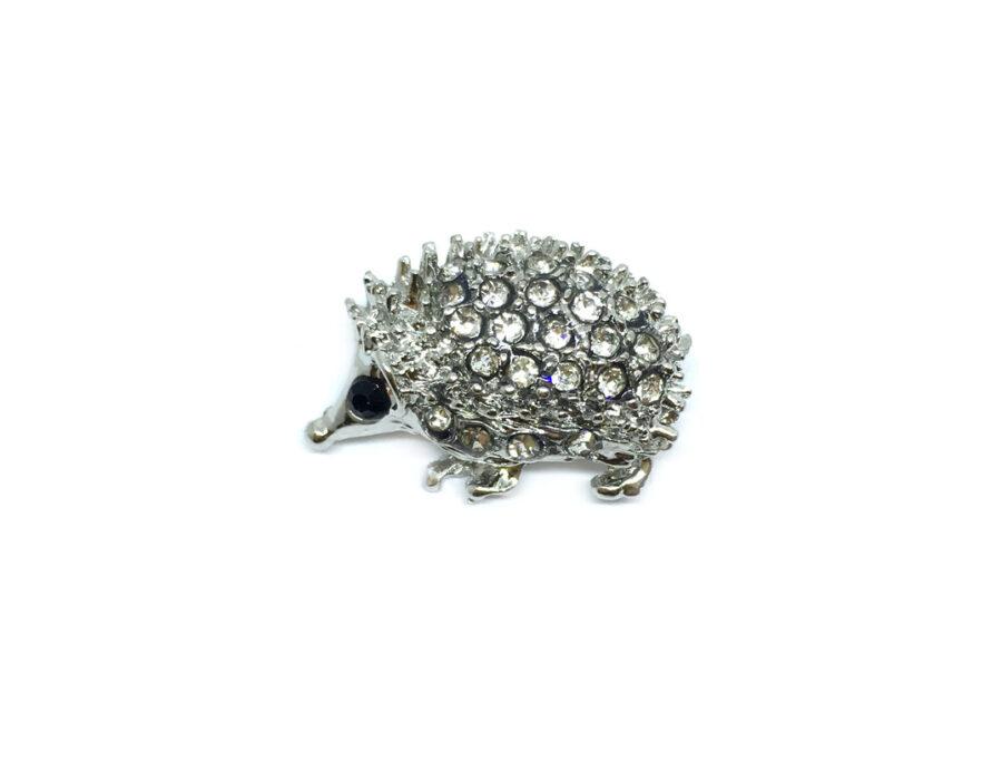 Crystal Hedgehog Brooch Pin