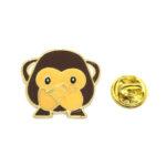 """Wise monkey """"Speak only good"""" Enamel Lapel Pin"""