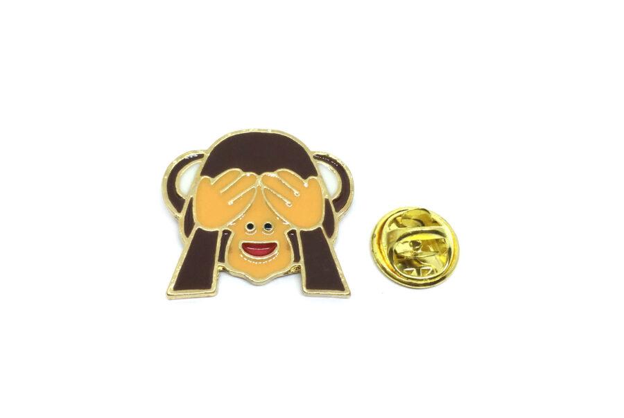 "Wise monkey ""See only good"" Enamel Lapel Pin"