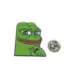 Thinking Frog Enamel Lapel Pin