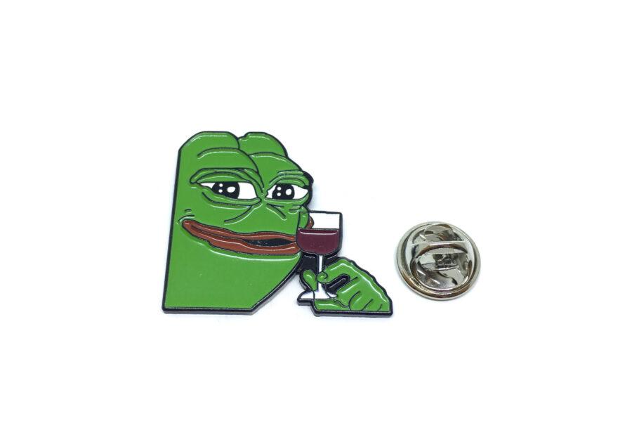 Drinking Frog Enamel Lapel Pin