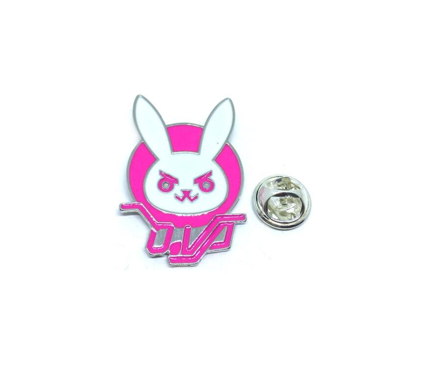 Pink Enamel Animal Lapel Pin