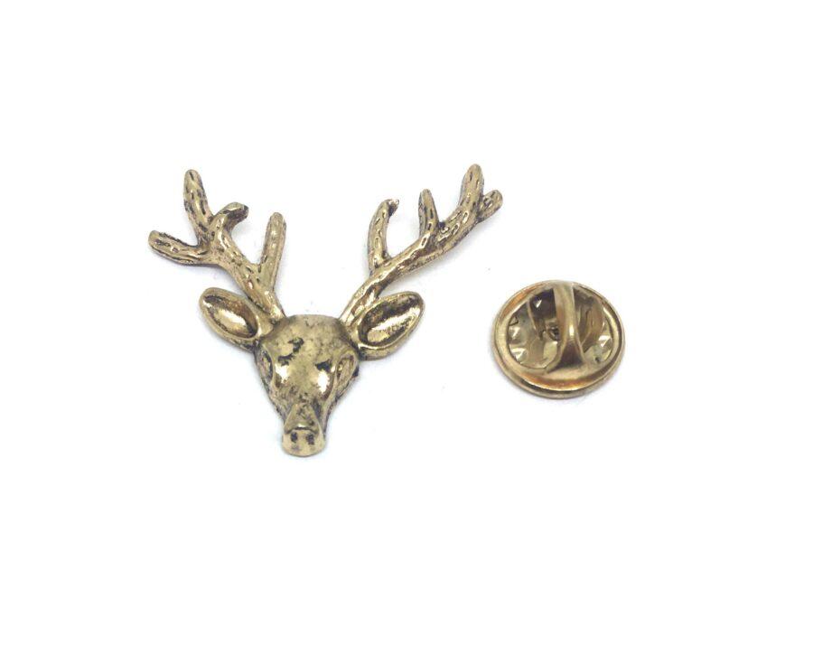 Deer Head Lapel Pin
