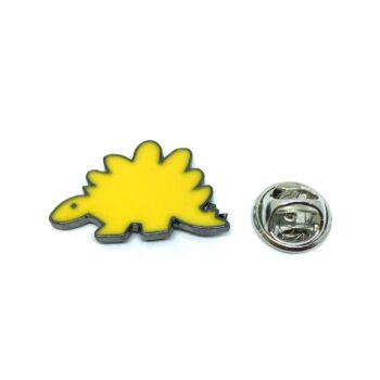 Yellow Enamel Dinosaur Lapel Pin