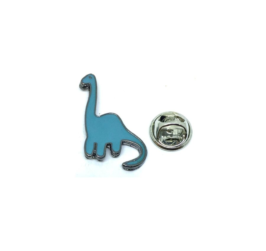 Blue Enamel Dinosaur Lapel Pin