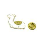 White Enamel Camel Lapel Pin