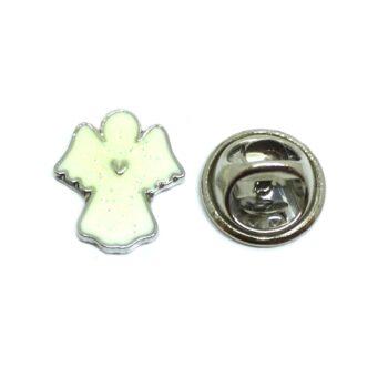 Silver plated Angel Enamel Lapel Pin