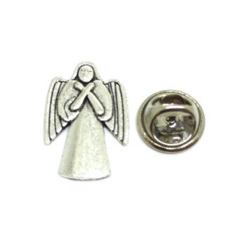 Silver plated Angel Wing Lapel Pin