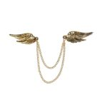 Gold tone Angel Wing Pin