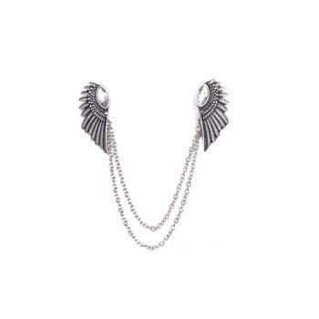 Crystal Angel Wing Pin