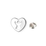 Silver plated Angel Lapel Pin