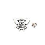 Silver tone Angel Lapel Pin