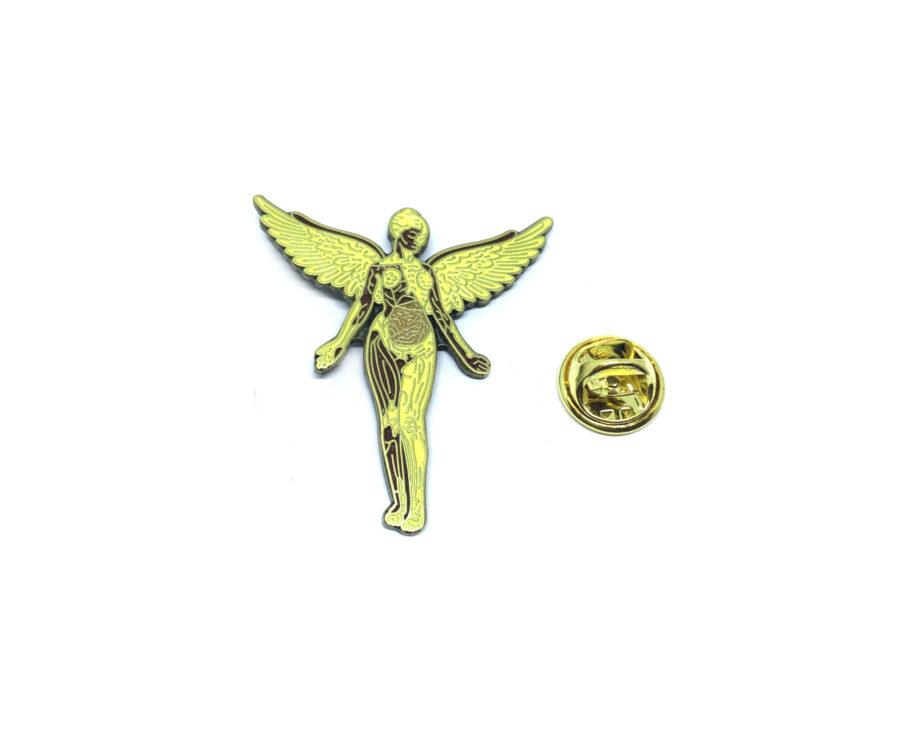 Yellow Enamel Angel Lapel Pin