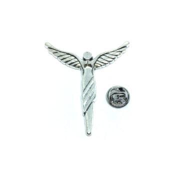 Silver tone Angel Wing Lapel Pin