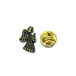 Antique Bronze Angel Lapel Pin
