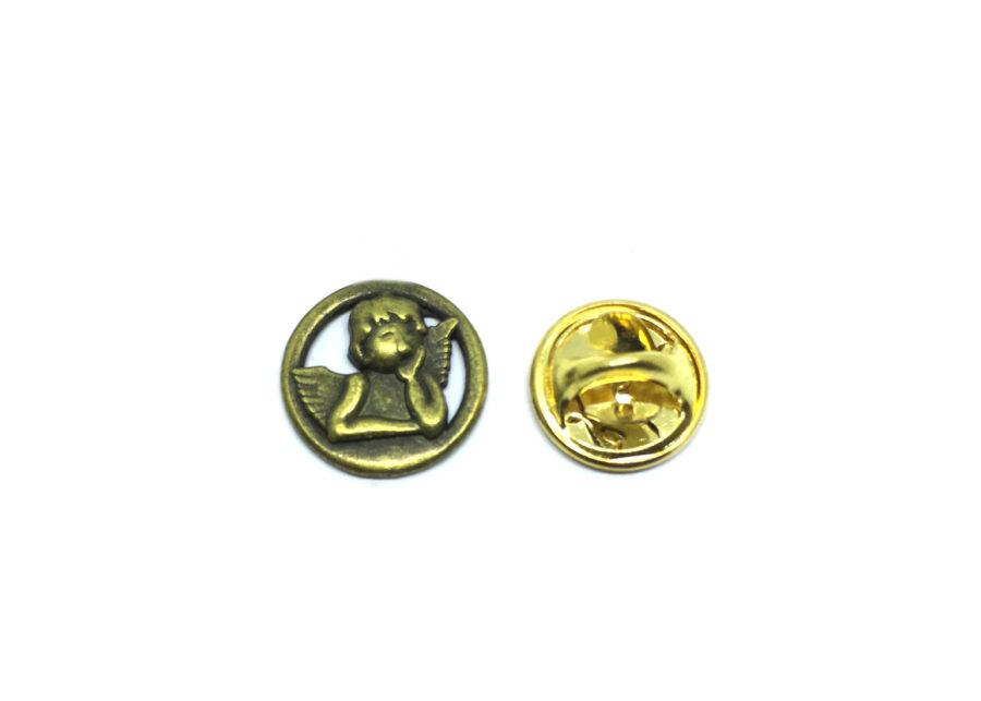 Vintage Bronze Angel Lapel Pin