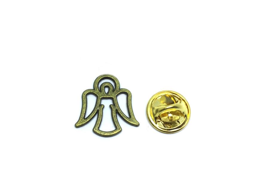 Tiny Bronze Angel Wing Lapel Pin