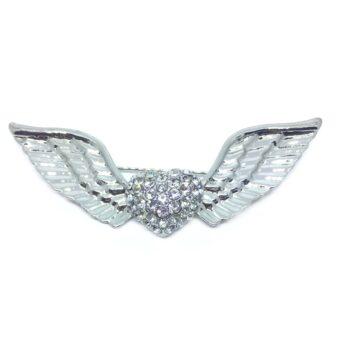 Crystal Angel Wing Brooch Pin