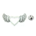 Silver plated Angel Wing Brooch Pin