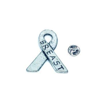 Silver tone Awareness Pin