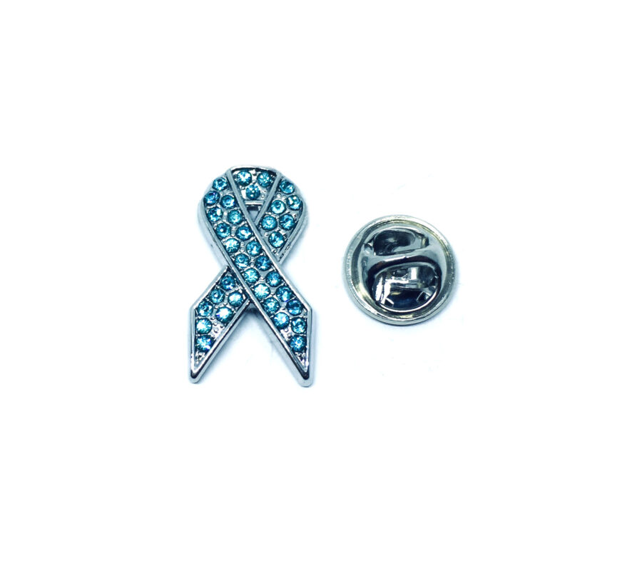 Blue Crystal Awareness Lapel Pin