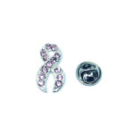 Pink Crystal Awareness Lapel Pin