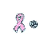 Crystal Pink Enamel Awareness Lapel Pin
