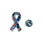 Crystal Awareness Lapel Pin