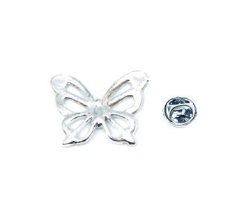 Silver plated Butterfly Pin