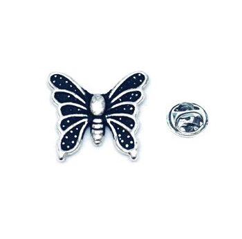 Silver tone Butterfly Lapel Pin
